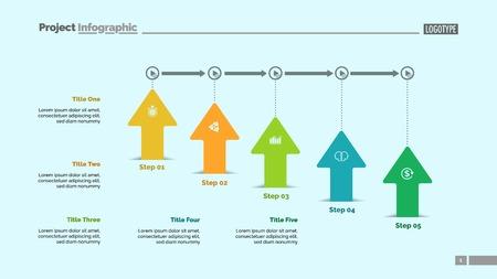 Five Arrows Workflow Slide Template