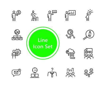 Set of Teamwork Line Icons