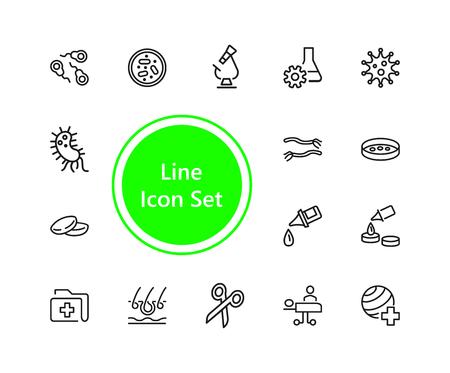 Set of Hospital Line Icons