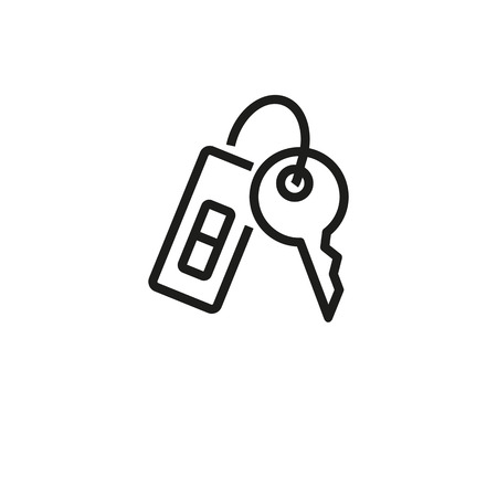 House key line icon. Lock, access, rent. Mortgage concept. Vector illustration can be used for topics like real estate, buying house, privacy