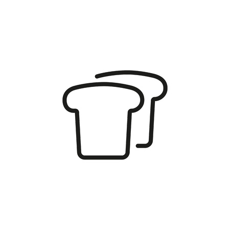 Bread line icon. Toast, slice, loaf. Food concept. Can be used for topics like bakery, breakfast, sandwich