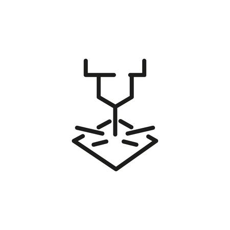 Icône de ligne de découpe laser. Cutter, machine, plasma, métal. Concept de l'industrie. Peut être utilisé pour des sujets tels que l'équipement, l'ingénierie, la fabrication.