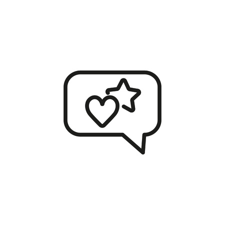 Customer review line icon. Speech bubble, promotion, discount. Online shop concept. Vector illustration can be used for topics like shopping, feedback, special offer