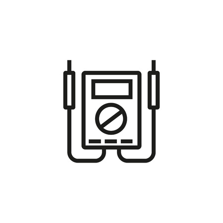 Multimeter line icon. Voltmerter, measuring, digital device. Modern technology concept. Can be used for topics like energy resource equipment, electricity