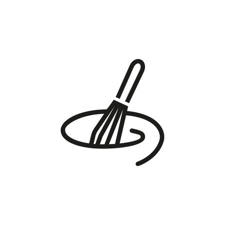 Mischen mit Schneebesenliniensymbol. Küchenutensilien, Utensilien, Mixer. Kochkonzept. Vektorillustration kann für Themen wie das Zubereiten von Speisen, kulinarisch, Teig machen verwendet werden
