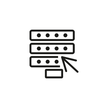 Sign up line icon. Arrow, connection, mining farm. Database concept. Vector illustration can be used for topics like server, networking, registration
