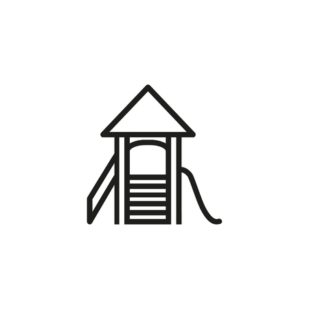 Playground line icon. Slide, playtime, activity. Childhood concept. Vector illustration can be used for topics like kindergarten, summer, entertainment