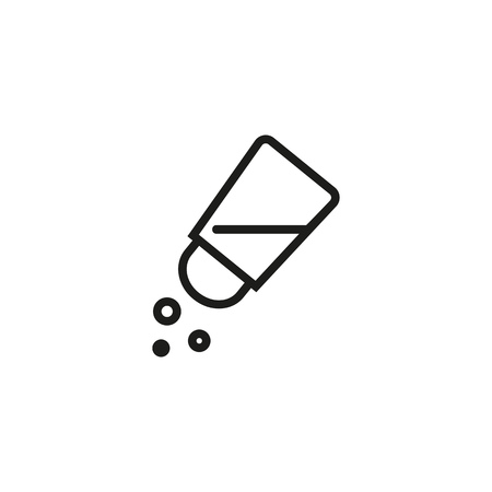 Salt line icon. Pepperbox, saltshaker, spice. Condiment concept. Vector illustration can be used for topics like ingredient, cooking, culinary Ilustrace