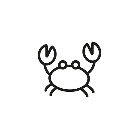 Crab line icon. Crustaceans, marine food, lobster. Seafood concept. Can be used for topics like shellfish, wildlife, menu design