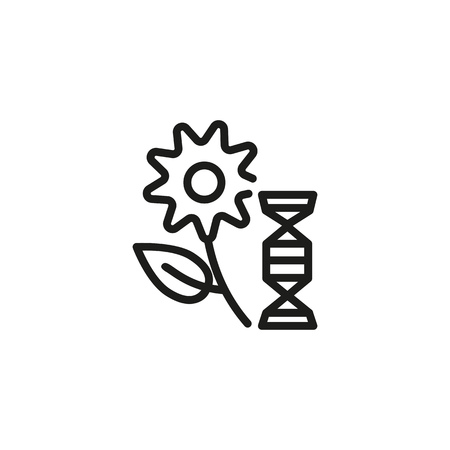 Genetically modified crop line icon. Flower, plant, selection. Science concept. Vector illustration can be used for topics like biotechnology, agriculture, research