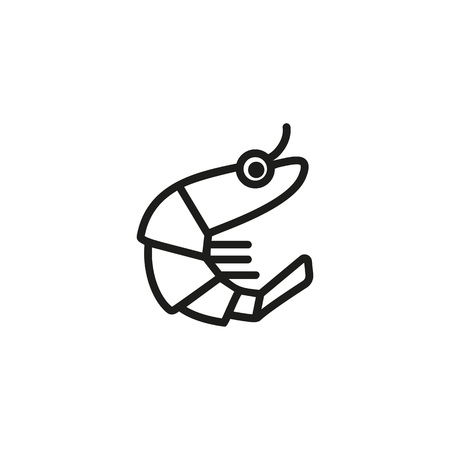 Shrimp line icon. Prawn, crustacean, marine food. Seafood concept. Can be used for topics like fish market, menu design, ocean life
