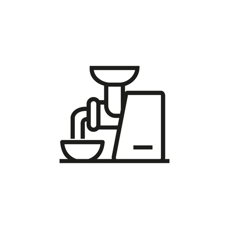 Meat grinder line icon. Mixing, automated, machine. Cooking concept. Vector illustration can be used for topics like preparing food, meat putt, kitchen appliance