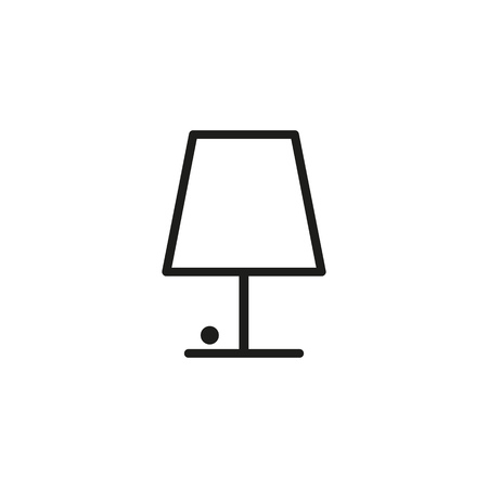 Table lamp line icon. Electric bulb, desk, lampshade. Light concept. Can be used for topics like lamplight, home lighting, interior, decoration Illustration