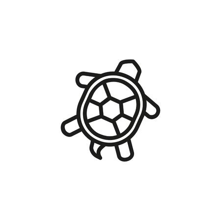 Icono de línea de tortuga. Concha, tortuga, vida marina. Concepto de mariscos. Se puede utilizar para temas como vida silvestre, animales, cocina costera.