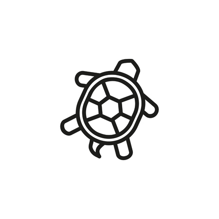 Turtle line icon. Shell, tortoise, sea life. Seafood concept. Can be used for topics like wildlife, animals, seaside cuisine Stock Illustratie