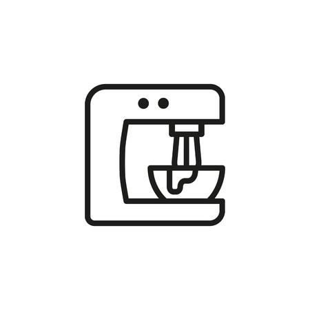 Stand mixer lijn pictogram. Toestel, recept, uitrusting. Keuken concept. Vector illustratie kan worden gebruikt voor onderwerpen als bakken, koken, eten