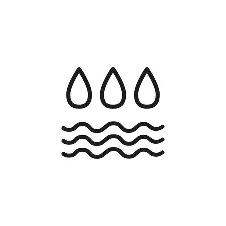 Air humidity line icon. Drops, waves, condensation. Atmosphere concept. Vector illustration can be used for topics like weather, environment, environment