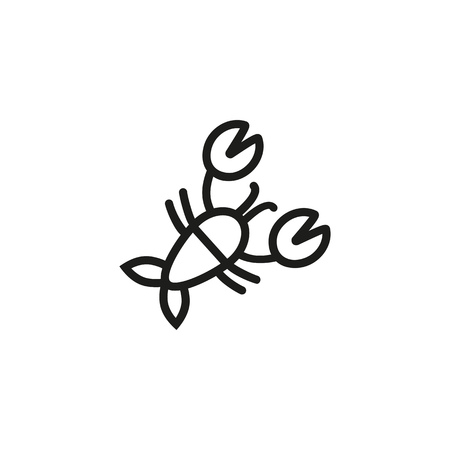 Crawfish line icon. Freshwater, lobster, pincer. Seafood concept. Vector illustration can be used for topics like delicatessen, fresh market, restaurant Vettoriali