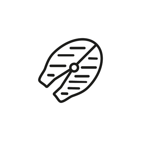 Fish steak line icon. Food, grilled, salmon. Fresh market concept. Vector illustration can be used for topics like menu, seafood, bbq