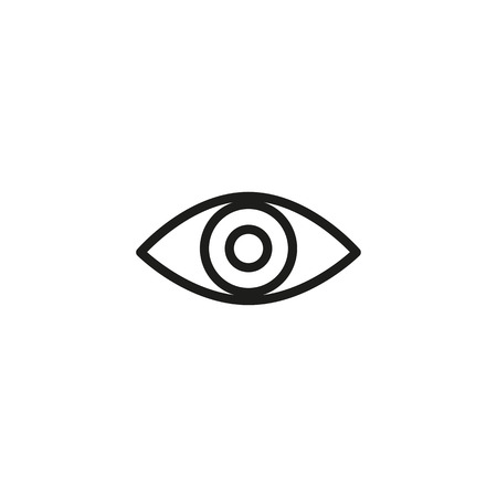 Human eye line icon. Eyesight, ophthalmology, vision. Organs concept. Vector illustration can be used for topics like human senses, medicine, health