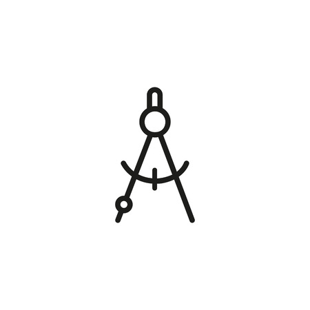 Compass line icon. Measurement, tool, drafting. Engineering concept. Vector illustration can be used for topics like construction, accuracy, architecture Illustration
