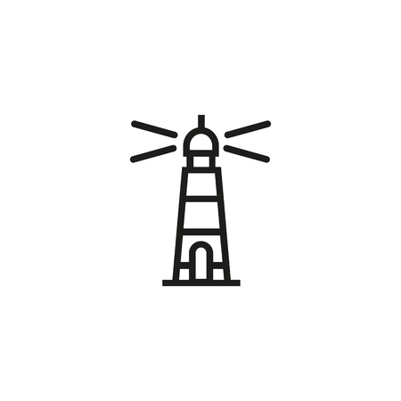 Lighthouse line icon. Warning sign, navigation, hope. Startup concept. Vector illustration can be used for topics like business, travel, safety