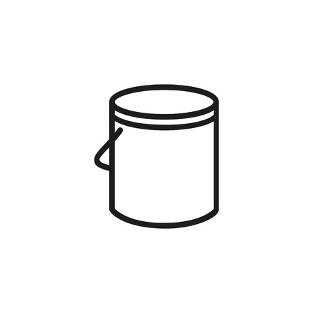 Paint can line icon. Painting, renovation, improvement. Construction concept. Vector illustration can be used for topics like service, do it yourself, creativity Stockfoto - 107189675