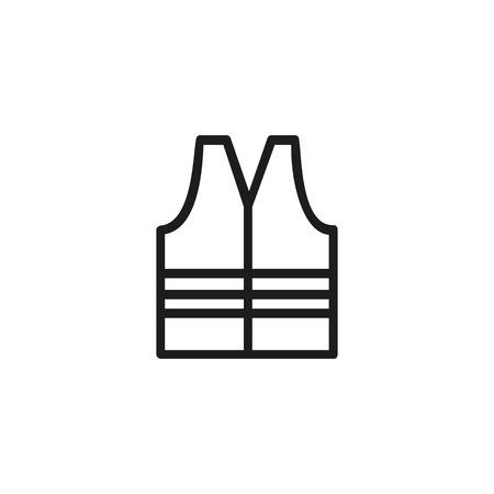 Sicherheitsweste Liniensymbol. Straßenarbeiter, Schutzkleidung, Bauarbeiter. Baukonzept. Vektorillustration kann für Themen wie Gebäude, Sicherheit, Service verwendet werden Vektorgrafik