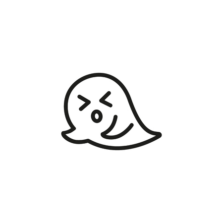 Active ghost flying line icon. Flying, fear, horror. Halloween concept. Vector illustration can be used for topics like frightening, boo, phantom Illustration