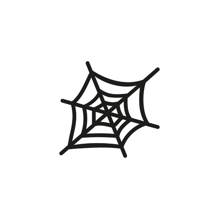 Spider web line icon. Fear, risk, phobia. Halloween concept. Vector illustration can be used for topics like horror, trap, danger Illustration