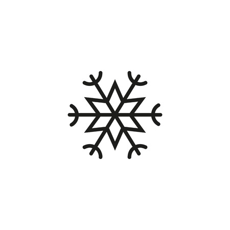 Weihnachtsschneeflockenlinienikone. Eis, Frost, Raureif. Winterkonzept. Vektorillustration kann für Themen wie Wetter, Natur, Klima verwendet werden Vektorgrafik