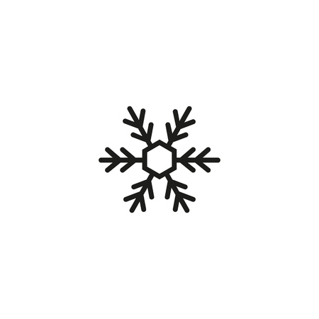 Thorny little snowflake line icon. Snow, ice, snowfall. Winter concept. Vector illustration can be used for topics like weather, holiday, design