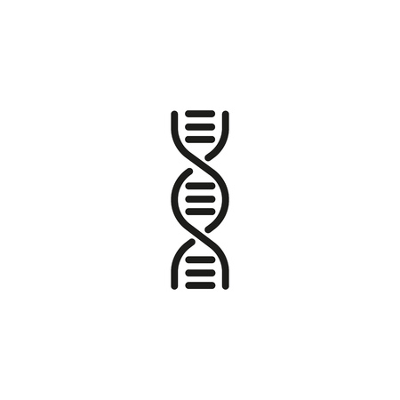 DNA line icon. Molecule, chromosome, spiral. Genetics concept. Can be used for topics like medical research, hereditary, science Illustration
