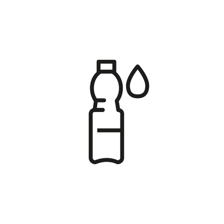 Bottle of water line icon. Container, beverage, drinking, drop. Liquid concept. Can be used for topics like salt water balance, thirst, diet, hydration
