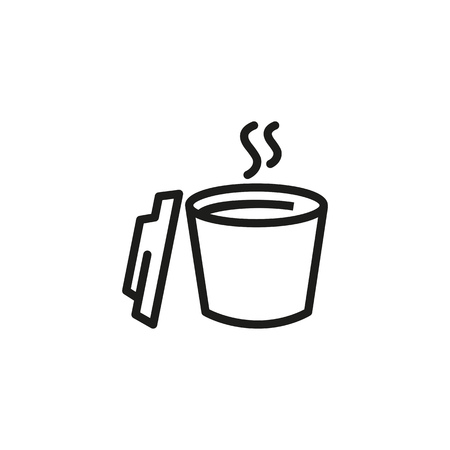 Open cup with hot drink line icon. Tea, takeaway coffee, coffee break. Takeaway drink concept. Vector illustration can be used for topics like drink, cafe, menu