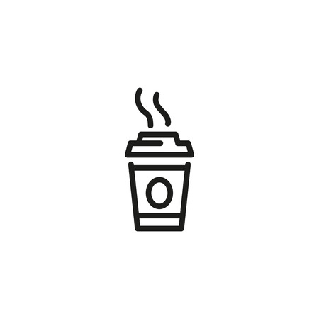 Hot takeaway coffee line icon. Coffee shop, tea, coffee break. Takeaway food concept. Vector illustration can be used for topics like drink, cafe, leisure
