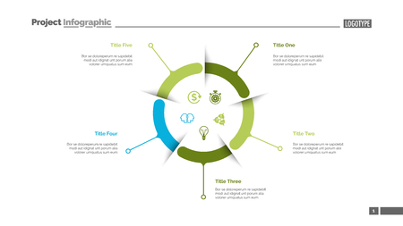 Blue and green business diagram slide template. Business data. Graph, diagram. Creative concept for infographic, presentation, report. Can be used for topics like strategy, negotiations, economics