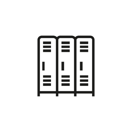 Locker room line icon. Closet, store, metal. Safety concept. Can be used for topics like storage, gym, deposit