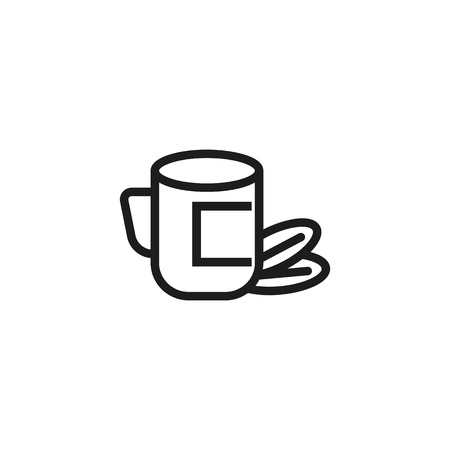 Organic food line icon. Cup, drink, beans. Food concept. Can be used for topics like coffee break, lunch, healthy eating Banco de Imagens - 111184475