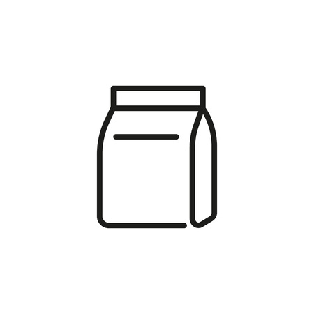Snack line icon. Carton package, bag, paper pack. Food concept. Can be used for topics like breakfast, lunch, fast food