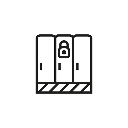 Security lockers line icon. Compartment, lock, padlock. Safety concept. Can be used for topics like storage, personal items, dressing