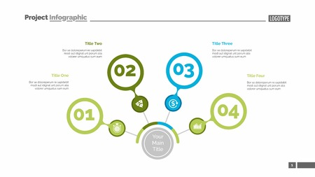 Four steps process chart slide template. Business data. Review, diagram, design. Creative concept for infographic, presentation, report. Can be used for topics like marketing, finance, production.