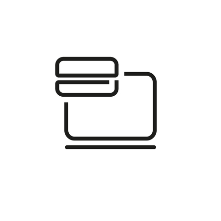 Online paying line icon. Laptop, credit card, purchase. Technology concept. Vector illustration can be used for topics like banking, online shopping, buying