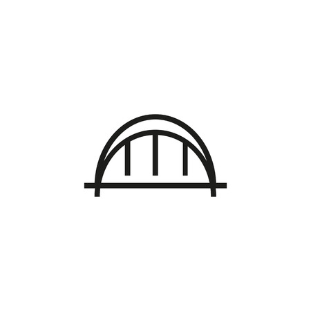 Modern arc bridge line icon. Building, industrial, modern. Architecture concept. Vector illustration can be used for topics like bridges, construction, architecture Illustration