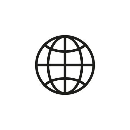 Globe line icon. World wide web, internet, communication. Internet concept. Vector illustration can be used for topics like internet, modern lifestyle, communication
