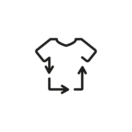 Recycling clothes line icon. Tshirt, textile, garment. Laundry concept. Vector illustration can be used for topics like ecology, sustainability, environment Ilustrace