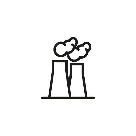 Air pollution line icon. Plant, chimney, smoke. Air pollution concept. Can be used for topics like ecology, environment, atmosphere Ilustracje wektorowe