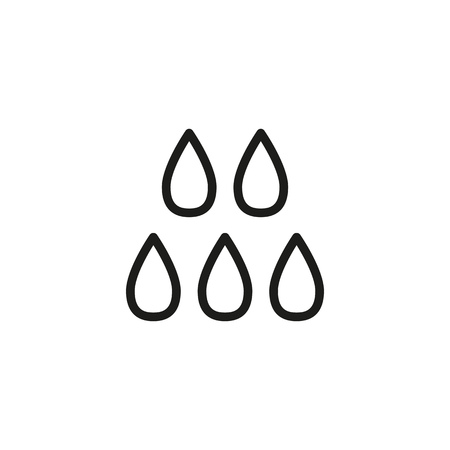 Raindrops line icon. Blobs, rainy, dribble. Water concept. Can be used for topics like weather, rain, washing