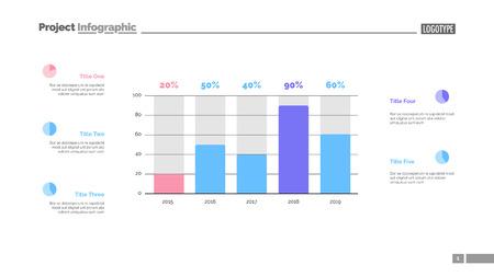 Modèle de diapositive de graphique de statistiques commerciales. Données commerciales. Graphique, diagramme. Concept créatif pour infographie, présentation, rapport. Peut être utilisé pour des sujets tels que l'investissement, le marketing, l'économie