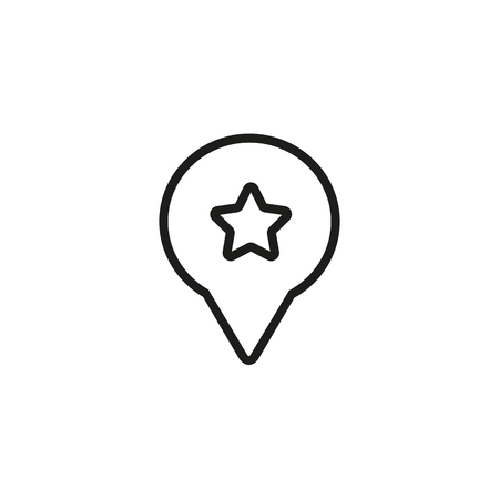 Add to favorite line icon. Star, review, customer. Service concept. Can be used for topics like rating, best quality, app